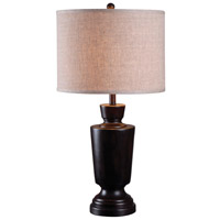 Kenroy Lighting Leslie 1 Light Table Lamp in Dark Mahogany 32235DM