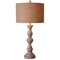 Kenroy Lighting Bennett 1 Light Table Lamp in Toasted Almond 32236TA