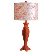 Kenroy Lighting Profile 1 Light Table Lamp in Tangerine 32238TANG