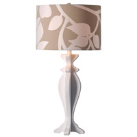 Kenroy Lighting Profile 1 Light Table Lamp in White 32238WH