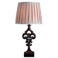 Kenroy Lighting Fleur 1 Light Table Lamp in Oil Rubbed Bronze 32242ORB