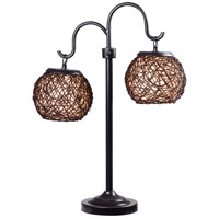 Kenroy Lighting Castillo 2 Light Outdoor Table Lamp in Bronze 32245BRZ