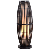 Kenroy Lighting Biscayne 1 Light Outdoor Table Lamp in Rattan with Bronze Accents 32247RAT