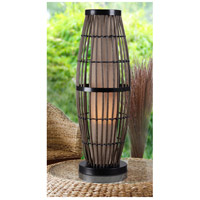 Kenroy Lighting 32247RAT Biscayne 31 inch 100 watt Rattan/Bronze Outdoor Table Lamp alternative photo thumbnail