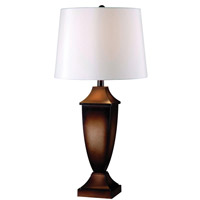 Kenroy Lighting Singer Pack of 2 Table Lamps in Mottled Bronze 32254MB