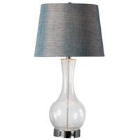 Kenroy Lighting 32255CLR Decanter 21 inch 150 watt Clear Glass Table Lamp Portable Light