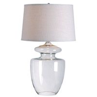Kenroy Lighting Apothecary 1 Light Table Lamp in Clear Glass 32260CLR