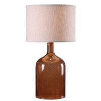 Kenroy Lighting Capri 1 Light Table Lamp in Amber Glass 32261AMB