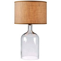 Capri 30 inch 150 watt Clear Glass Table Lamp Portable Light