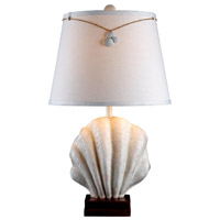 Islander 26 inch 150 watt Antique White Table Lamp Portable Light
