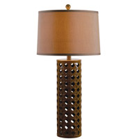 Kenroy Lighting Marrakesh 1 Light Table Lamp in Chocolate 32272CHOC