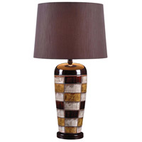 Kenroy Lighting Torino 1 Light Table Lamp in Ceramic Multicolored Squares 32273CER