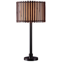 Kenroy Lighting Bora 1 Light Outdoor Table Lamp in Bronze 32279BRZ
