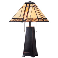 Kenroy Lighting Amblewood 2 Light Table Lamp in Oil Rubbed Bronze 32284ORB