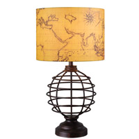 Kenroy Lighting Mercator 1 Light Table Lamp in Bronze 32288BRZ