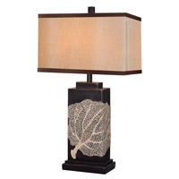 Kenroy Lighting Sea Fan 1 Light Table Lamp in Oil Rubbed Bronze 32296ORB