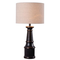 Kenroy Lighting Round-A-Bout 1 Light Table Lamp in Oil Rubbed Bronze 32299ORB