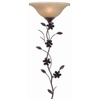 Blooms 1 Light 16 inch Golden Flecked Bronze Wallchiere Wall Light