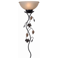 Kenroy Lighting 32304ORB Vineyard 1 Light 15 inch Oil Rubbed Bronze Wallchiere Wall Light
