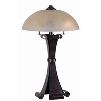 Kenroy Lighting Alto 2 Light Table Lamp in Chocolate Caramel 32308CHC