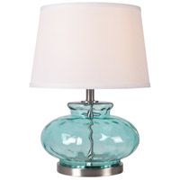 Kenroy Lighting 32318BLU Alamos 13 inch Light Blue Table Lamp Portable Light
