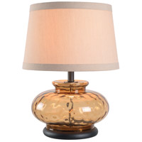 Alamos 21 inch 150 watt Brown Glass Table Lamp Portable Light