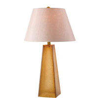 Kenroy Lighting Vetri 1 Light Table Lamp in Tan Textured Glass 32320TN