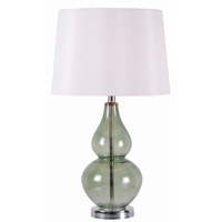 Kenroy Lighting McCauley 1 Light Table Lamp in Spruce Glass 32326SPR