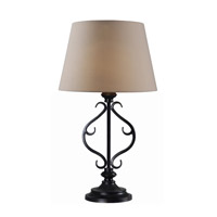 Clairmont 30 inch 0.65 watt Oil Rubbed Bronze Table Lamp Portable Light, Solar