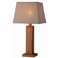 Cody 29 inch 100 watt Teak Outdoor Table Lamp