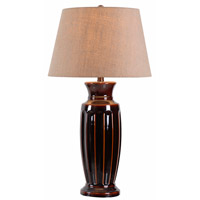 Kenroy Lighting Johnson 1 Light Table Lamp in Bronze Ceramic 32400BZC
