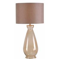 Kenroy Lighting Bubbler 1 Light Table Lamp in Light Amber 32401AMB