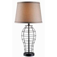Kenroy Lighting Dresser 1 Light Table Lamp in Black 32405BL