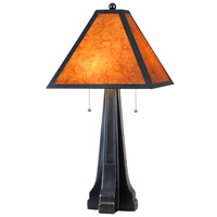 Miles 28 inch 60 watt Oil Rubbed Bronze Table Lamp Portable Light