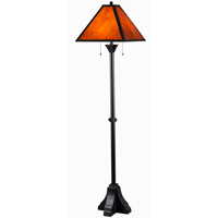 Miles 12 inch 60 watt Oil Rubbed Bronze Floor Lamp Portable Light