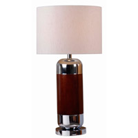 Ike 30 inch 150 watt Mahogany Table Lamp Portable Light