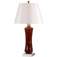 Kenroy Lighting Hoffman Pack of 2 Table Lamps in Mahogany 32421MAH