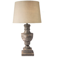 Admiral 17 inch 150 watt Distressed Gray Table Lamp Portable Light