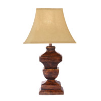 Kenroy Lighting Forecastly 1 Light Table Lamp in Distressed Dark Walnut 32434DDW