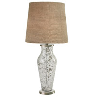 Sahara 16 inch 150 watt Clear Sand Glass Table Lamp Portable Light