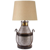 Cudahy 29 inch 150 watt Galvanized Iron/Bronze Table Lamp Portable Light