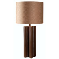 Kenroy Lighting Extrusion 1 Light Table Lamp in Chocolate 32446CHOC