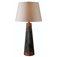 Kenroy Lighting Durango 1 Light Table Lamp in Wood Grain 32447WDG