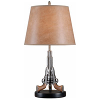 Samuels 27 inch 150 watt Weathered Steel Table Lamp Portable Light