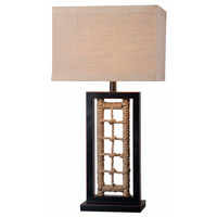 Kenroy Lighting Sailor 1 Light Table Lamp in Oil Rubbed Bronze with Rope Accents 32453ORBR