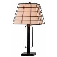 Kenroy Lighting Stockade 1 Light Table Lamp in Golden Flecked Bronze 32469GFBR