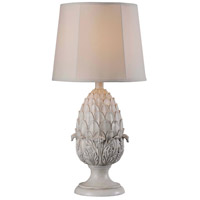 Kenroy Lighting Artichoke 1 Light Table Lamp in Roman White 32487RW