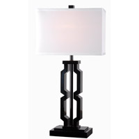 Kenroy Lighting Octo 1 Light Table Lamp in Black 32496BL