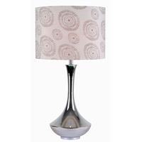 Kenroy Lighting Aladdin 1 Light Table Lamp in Chrome 32541CH