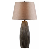 Kenroy Lighting Carob 1 Light Table Lamp in Taupe 32552TP
